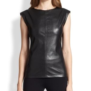 BCBG MaxAzria Leather Top